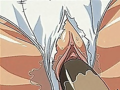 Ponytailed hentai babe with glasses getting rammed in the bathoom