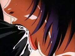 Anime Streetwalker swallowing creamy cum and reaching climax