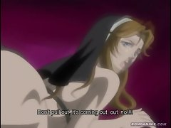 Hentai nun gets her ass hammered by the high priest